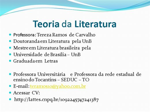 Curso Online de Teoria da Literatura