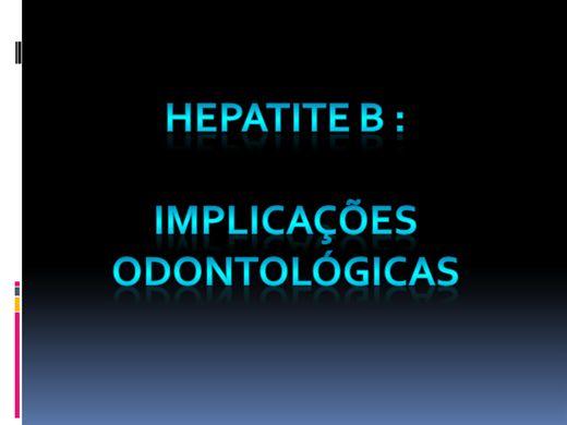 Curso Online de Hepatite B: implicações odontológicas