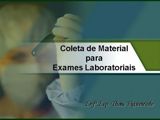 Curso Online de Coleta de Material Para Exames Laboratoriais.