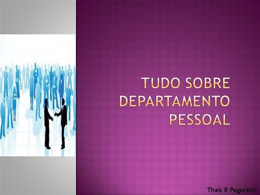 Curso Online de Tudo sobre departamento pessoal