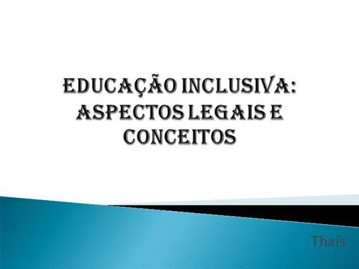 Curso Online de EDUCAÇÃO INCLUSIVA: ASPECTOS LEGAIS E CONCEITOS