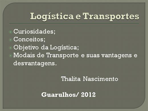 Curso Online de Logística e Transportes
