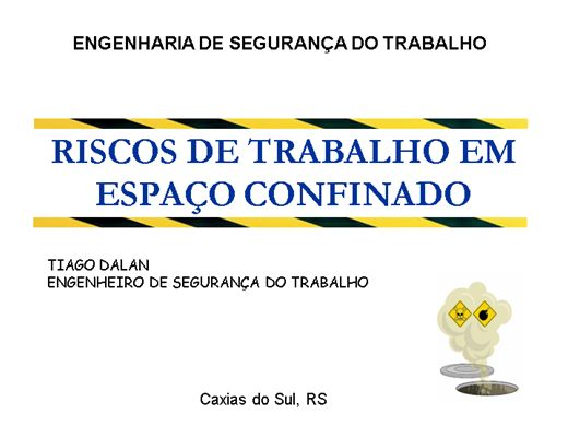 Curso Online de RISCOS DE TRABALHO EM ESPAÇOS CONFINADOS
