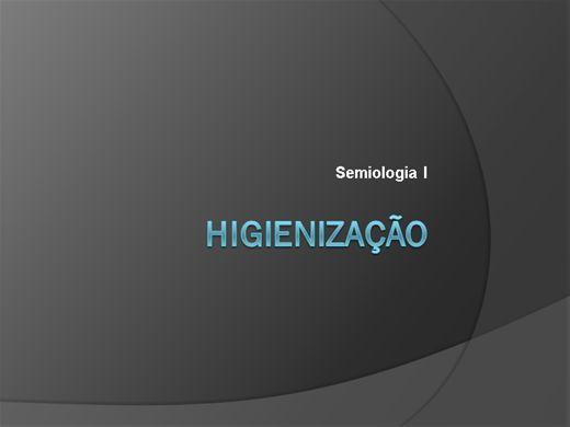 Curso Online de Semiologia I Higienização