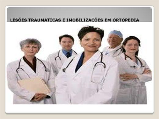 Curso Online de LESÕES TRAUMATICAS E IMOBILIZAÇÕES EM ORTOPEDIA