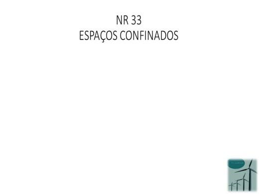 Curso Online de NR 33 Espaço confinado
