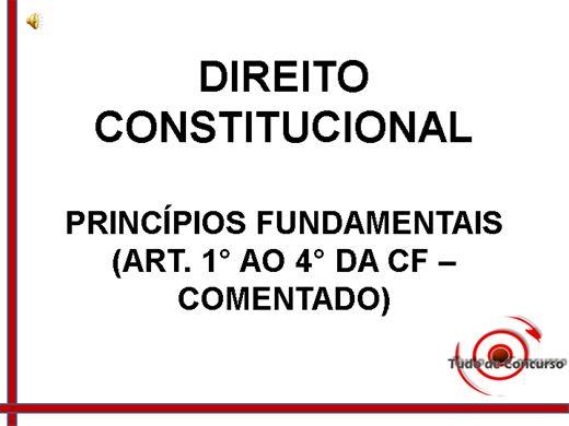 Curso Online de Princípios Fundamentais (Dir. Constitucional)