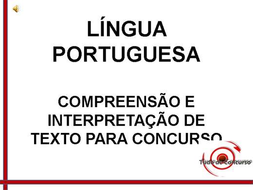 Curso Online de Compreensão e Interpretação de texto para concursos