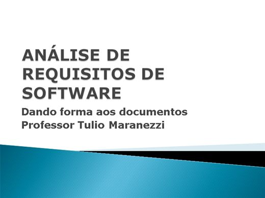 Curso Online de Análise de Requisitos de Software