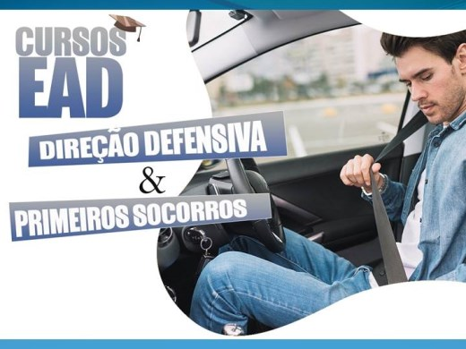 Curso Online de  Direção defensiva e primeiros socorros no trânsito