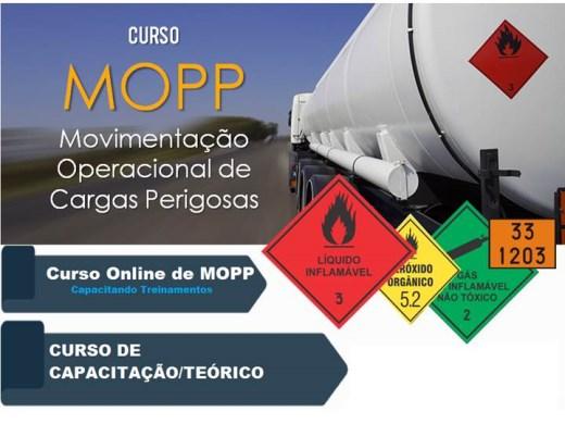 Curso Online de RECICLAGEM MOPP -MOVIMENTAÇÃO OPERACIONAL DE PRODUTOS PERIGOSOS