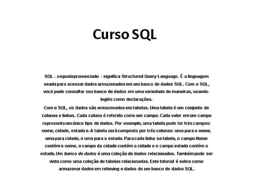 Curso Online de SQL