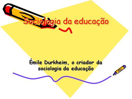 Curso Online de SOCIOLOGIA DA EDUCAÇÃO