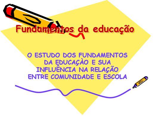Curso Online de FUNDAMENTOS DA EDUCAÇÃO