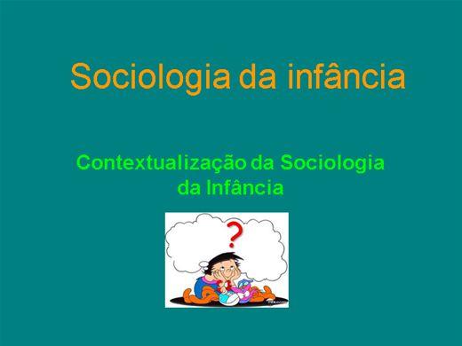 Curso Online de SOCIOLOGIA DA INFÂNCIA