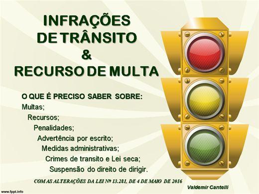 Curso Online de Infrações de trânsito e recurso de multa.