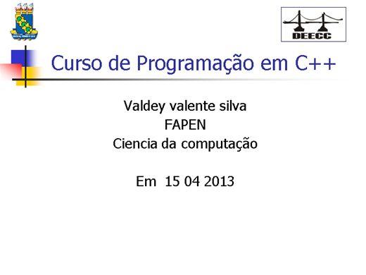 Curso Online de Curso de Programação em C++