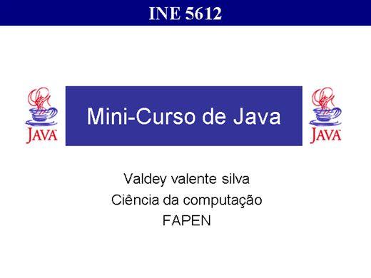 Curso Online de CURSO EM  JAVA COMPLETO