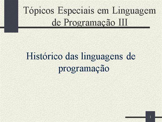 Curso Online de Tópicos Especiais em Linguagem de Programação