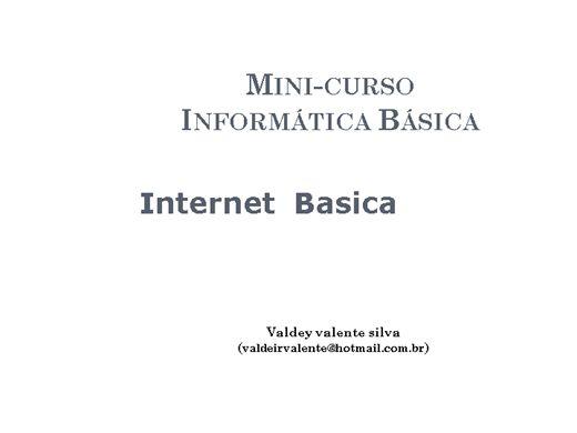 Curso Online de Mini-curso de informatica Basica