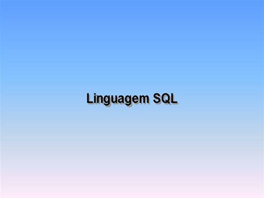 Curso Online de Linguagem SQL
