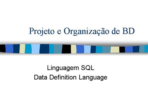 Curso Online de Projeto e Organização de BD