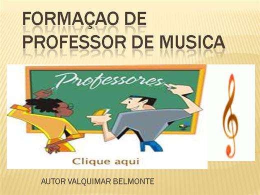 Curso Online de FORMAÇAO DE PROFESSOR DE MUSICA