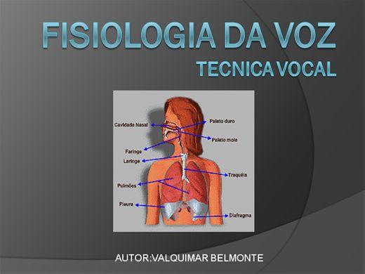 Curso Online de FISIOLOGIA DA VOZ