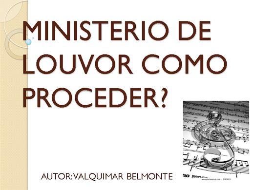 Curso Online de MINISTERIO DE LOUVOR!COMO PROCEDER?