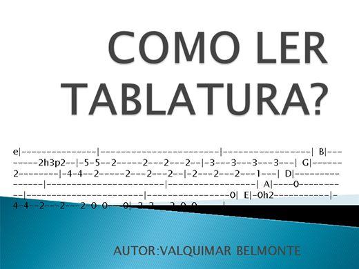 Curso Online de COMO LER TABLATURA