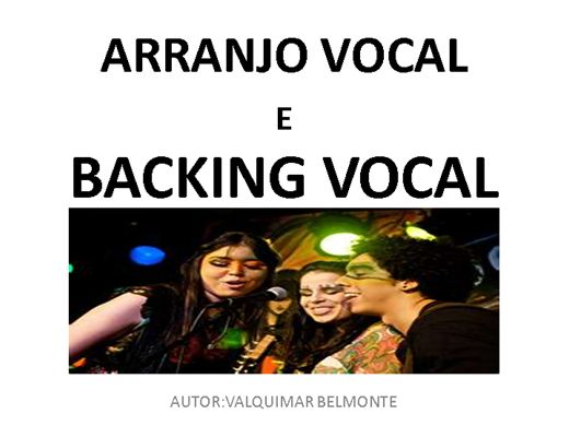 Curso Online de ARRANJO VOCAL  E BACKING VOCAL