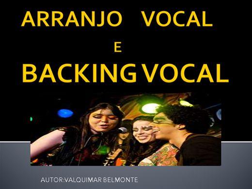 Curso Online de ARRANJO VOCAL  E BACKING VOCAL