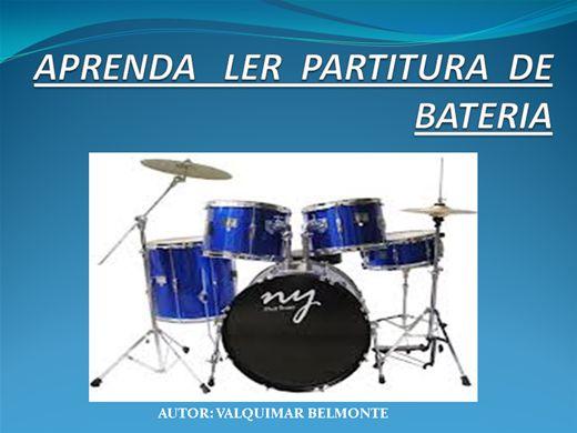 Curso Online de APRENDA LER PARTITURA DE BATERIA