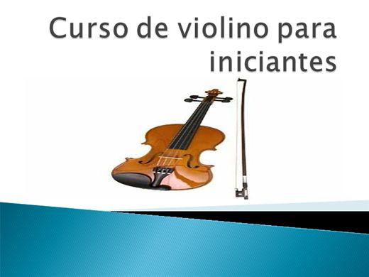 Curso Online de VIOLINO PARA INICIANTES