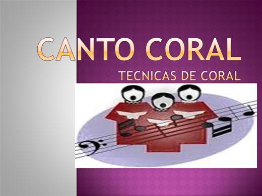 Curso Online de TECNICAS DE CANTO CORAL