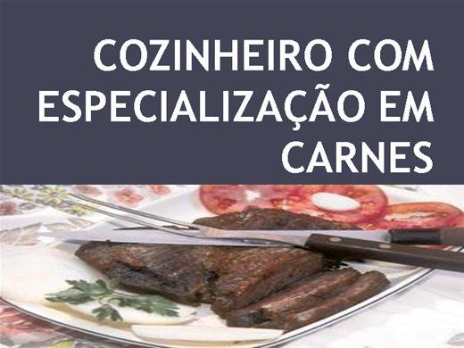 Curso Online de  COZINHEIRO COM ESPECIALIZAÇÃO EM CARNES