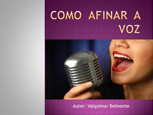 Curso Online de COMO  AFINAR  A  VOZ