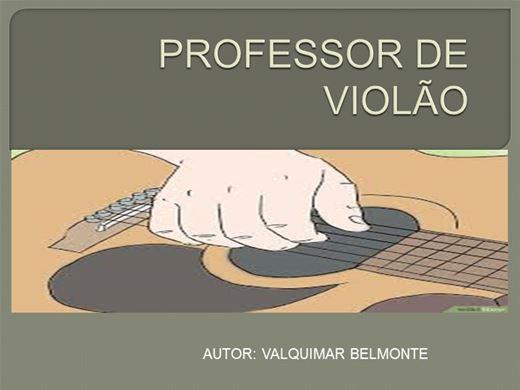 Curso Online de PROF.DE VIOLÃO PARA INICIANTES