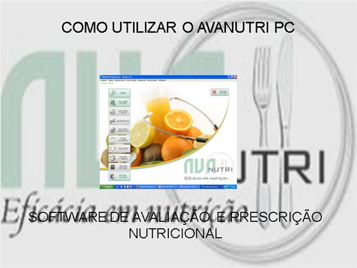 Curso Online de COMO UTILIZAR O AVANUTRI PC