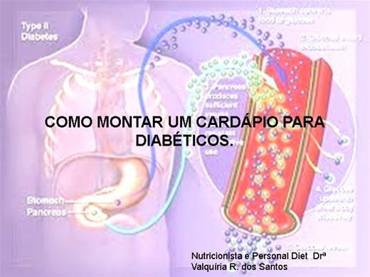 Curso Online de Como montar um cardápio para diabéticos