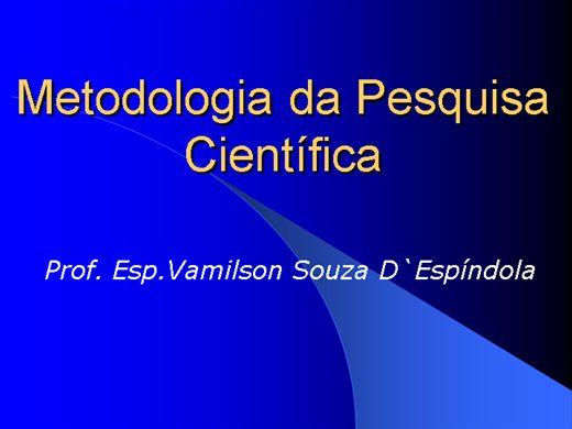 Curso Online de Metodologia da Pesquisa Científica
