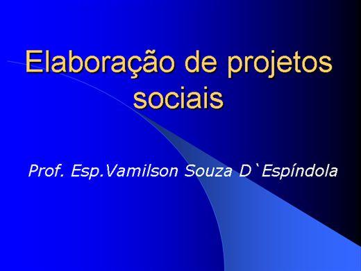 Curso Online de Elaboração de projetos sociais