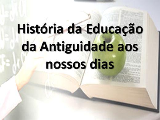 Curso Online de História da Educação da Antiguidade aos nossos dias