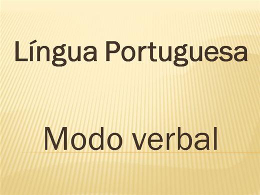 Curso Online de Língua Portuguesa - MODO VERBAL