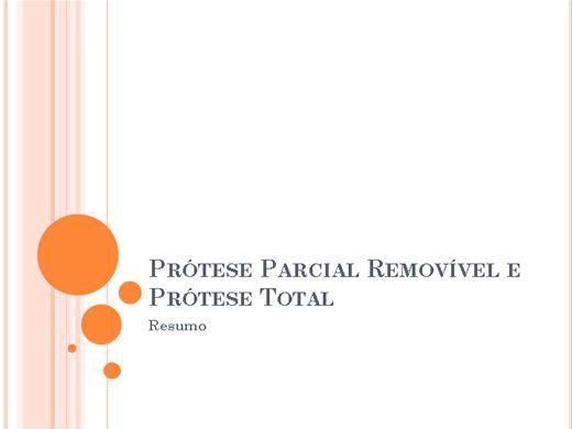 Curso Online de Prótese Parcial Removível e Prótese Total - Resumo