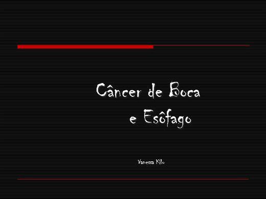 Curso Online de Câncer de Boca e Esôfago