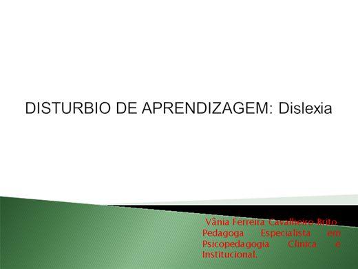 Curso Online de DISTURBIO DE APRENDIZAGEM: Dislexia