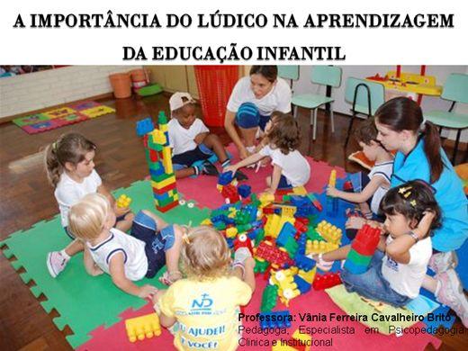 Curso Online de A IMPORTÂNCIA DO LÚDICO NA APRENDIZAGEM  DA EDUCAÇÃO INFANTIL