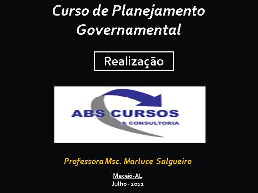 Curso Online de planejamento governamental