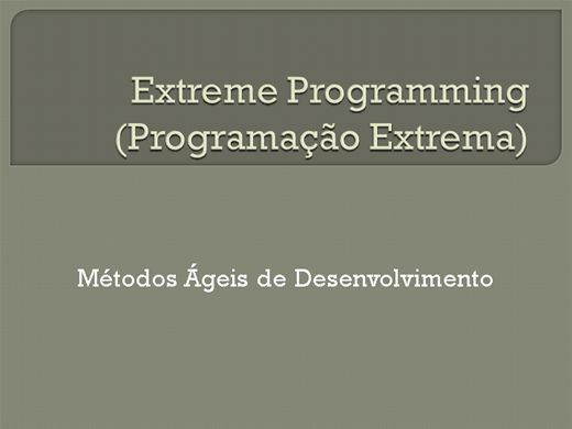 Curso Online de Metodologia de desenvolvimento Ágil - XP